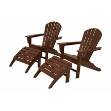 <strong>POLYWOOD®</strong> South Beach 4 Piece Adirondack Set