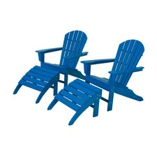 South Beach 4 Piece Adirondack Set
