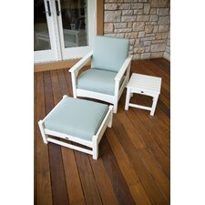 Club 3 Piece Deep Seating Set (Set of 3)