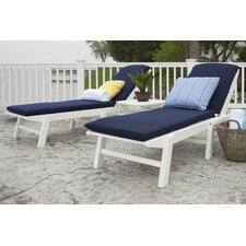 <strong>POLYWOOD®</strong> Nautical 3 Piece Chaise Set with Cushions