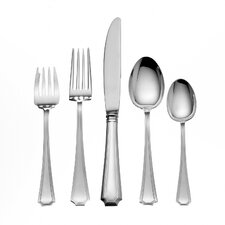 Sterling Silver Groham Fairfax 46 Piece Dinner Flatware Set