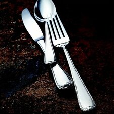 Ribbon Edge Frosted 5 Piece Flatware Set
