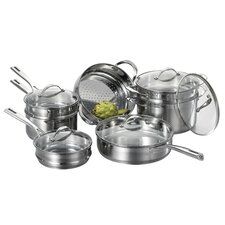 <strong>Cat Cora by Starfrit</strong> Stackable 12-Piece Stainless Steel Cookware Set (Set of 12)