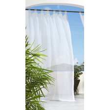 Outdoor Décor Escape Outdoor Hook and Loop Fastener Tab Top Curtain Panel