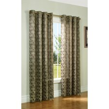 Cotton Blend Grommet Curtain Single Panel
