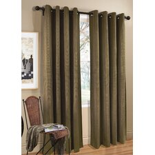 Cotton Grommet Top Curtain Single Panel