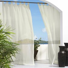 <strong>Commonwealth Home Fashions</strong> Outdoor Décor Escape Tab Top Curtain Single Panel
