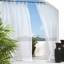 Outdoor Décor Escape Outdoor Sheer Velcro Tab Top Curtain Single Panel