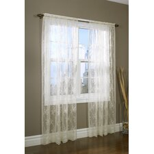Rod Pocket Bridal Lace Curtain Single Panel