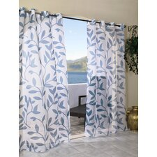 <strong>Commonwealth Home Fashions</strong> Escape Leaf Grommet Window Curtain Single Panel