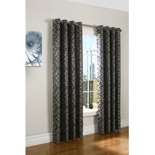 <strong>Commonwealth Home Fashions</strong> Ikat Grommet Window Curtain Single Panel