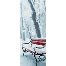 Winter Bench Wall Murals