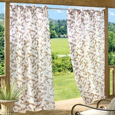 Floral Garden Grommet Curtain Single Panel