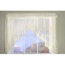 "Bridal Lace Hem Rod Pocket Swag 72"" Curtain Valance"