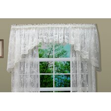 <strong>Commonwealth Home Fashions</strong> Bridal Lace Hem Rod Pocket Swag Curtain Valance