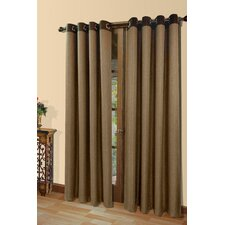 Harrison A Herringbone Weave Grommet Menswear Fabric Curtain Panel