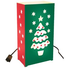 <strong>Luminarias</strong> 10 Count Electric Luminary Kit with Christmas Tree Design