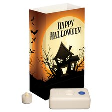 Haunted House 12 Count Battery Operated Luminary Kit