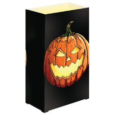 Jack O'Lantern Plastic Luminarias (Set of 12)