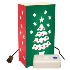 Christmas Tree 10 Count Electric Luminaria Kit  with Lumabases