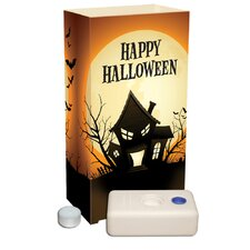 Haunted House 12 Count Candle Luminaria Kit (Set of 12)