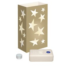 Gold Star Candle Luminaria Kit (Set of 12)