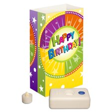 Happy Birthday Battery Operated Luminaria Kit (Set of 12)