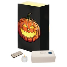 Jack O' Lantern Remote Control Luminaria Kit (Set of 10)
