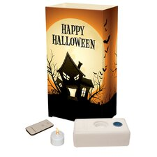 Haunted House Remote Control Luminaria Kit (Set of 10)