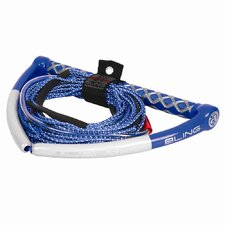 Bling Spectra 75' 5-Section Blue Wakeboard Rope