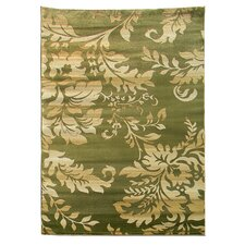 Tiffany Green Floral Rug