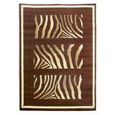 Tiffany Chocolate Animal Print Rug
