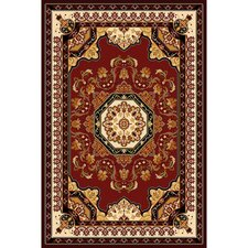 Kingdom Burgundy Traditional Rug