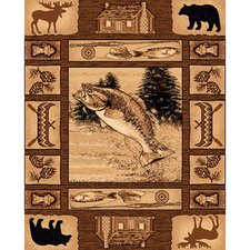 Lodge Design Novelty Rug