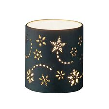 Snowflake Porcelain Votive Tealight