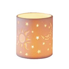 Sun, Moon, Star Porcelain Votive