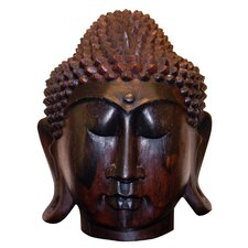 Solid Wood Buddha Head