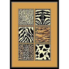 African Adventure Mixed Skins Area Rug