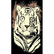 African Adventure Tiger Head Novelty Rug