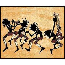 African Adventure Tribal Dance Area Rug