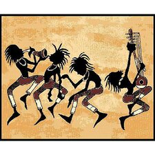 <strong>DonnieAnn Company</strong> African Adventure Tribal Dance Novelty Rug