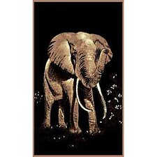 African Adventure Elephant Novelty Rug