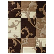 Studio 602 Brown Flora Design Rug