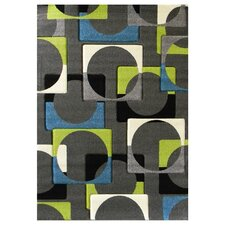 Studio 609 Charcoal Geometric Design Rug