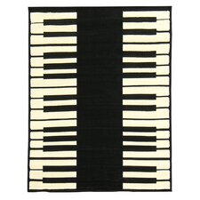 African Adventure Piano Keyboard Novelty Rug