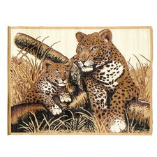 <strong>DonnieAnn Company</strong> African Adventure Cheetah and Cub Novelty Rug
