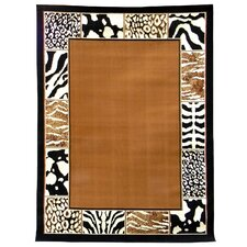 African Adventure Border Skin Area Rug