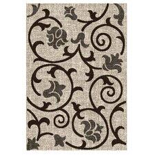 Lexington Champaign Floral / Swirl Vine Rug