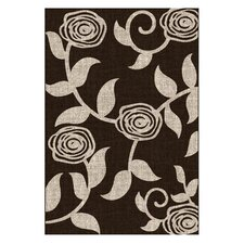 Lexington Chocolate Flower / Vine Rug
