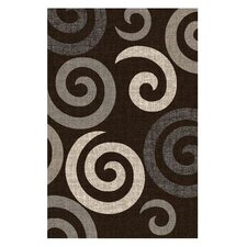 Lexington Chocolate Large Swirl Rug